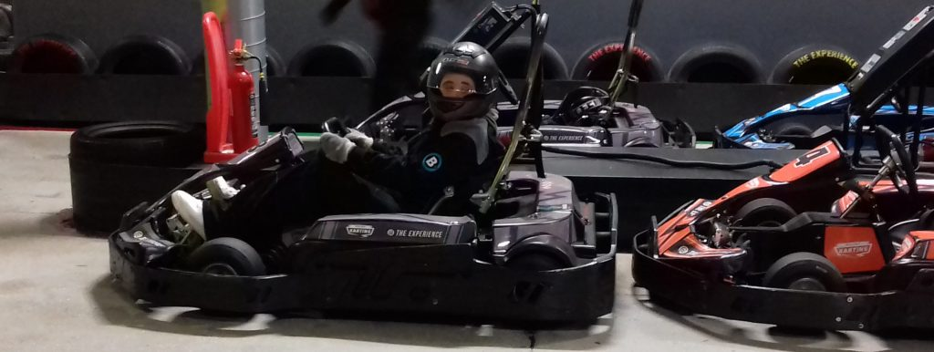 Young person in go-kart